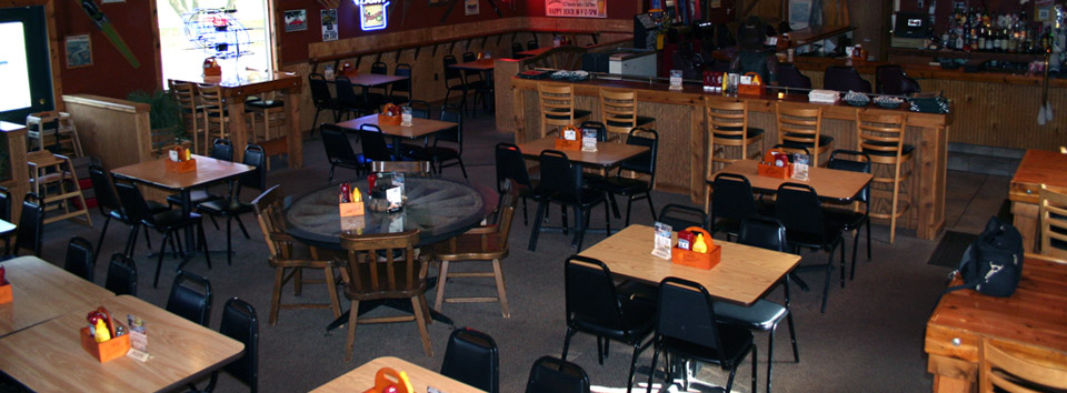 Inside the Trailblazer Bar & Grill in Madison Lake, MN