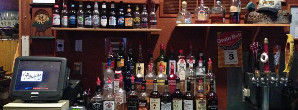 Behind the Bar at Trailblazer Bar & Grill in Madison Lake, MN