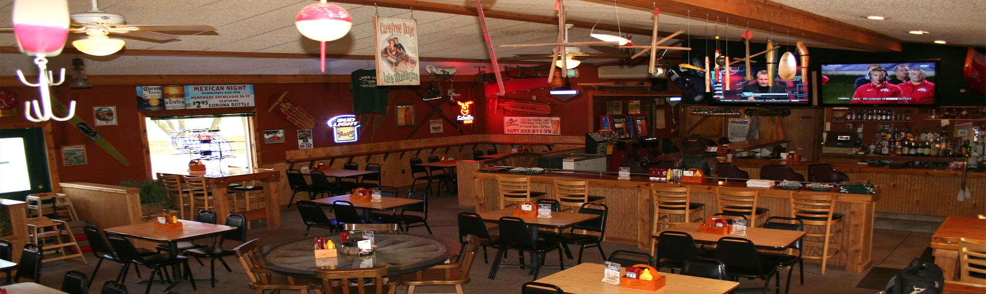 Interior of Trailblazer Bar & Grill in Madison Lake, MN